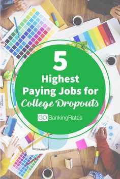 Don't have a college degree? No worries! Click through to see 5 high paying jobs for college dropouts....