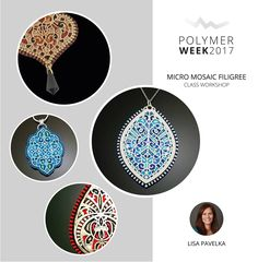 Micro Filigree Mosaic Workshop with Lisa Pavelka in the Czech Republic, July 2 - 7, 2017