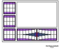Het Glazen Ambacht | Portfolio van glas-in-lood ramen | patroon toepasbaar in tegellambrisering