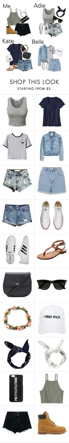 """""""Shawn Mendes concert with the squad"""" by miki1994 ❤ liked on Polyvore featuring LE3NO, Patagonia, Chicnova Fashion, Topshop, Converse, adidas, Firth, Kate Spade, Ray-Ban and Nasaseasons"""