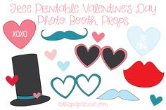 Free Printable Valentine's Photo Booth Props - The Paper Vine