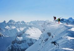 Vorab glacier that was closed last time and visit the freestyle academy | Laax Flims Falera, Graubunden, CH