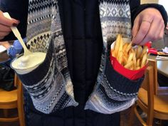 We just found our favourite scarf. Multitasking has never tasted so good!