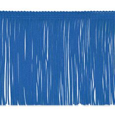 "4"" Chainette Fringe Trim Royal Blue from @fabricdotcom  This fringe is a beautiful finishing touch on pillows, draperies, costumes and more. It features a 3/8'' header and 4'' long fringe."
