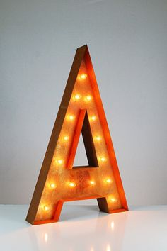 Letter A Lighted Vintage Marquee Letters (Rustic) - Buy Marquee Lights Online - The Rusty Marquee Marquee Letters, Marquee Lights, Metal Letters, Restaurant Signage, Teen Bedroom Designs, Light Up Letters, Patio Lighting, Bar Signs, Bulb