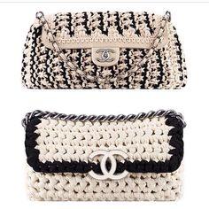 My crochet Chanel knockoff purse - Cynthia Luhrs: