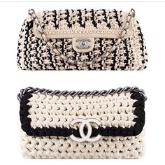My crochet Chanel knockoff purse - Cynthia Luhrs: