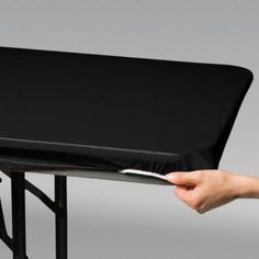 Creative Converting 702000 StayPut Plastic Table Cover 30 by 96 Black >>> Click on the image for additional details.  This link participates in Amazon Service LLC Associates Program, a program designed to let participant earn advertising fees by advertising and linking to Amazon.com.