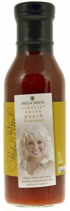 Paula Deen Vidalia Onion Peach Grilling Marinade 12 oz.