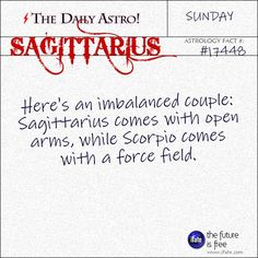 Sagittarius Visit The Daily Astro for more Sagittarius facts. There's a section with fantastic Sagittarius-horoscope wisdom at iFate! Sagittarius Daily, Sagittarius Personality, Daily Astrology, Sagittarius Astrology, Sagittarius Quotes, Gemini And Cancer, Daily Horoscope, Aquarius Facts, Zodiac Quotes