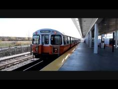 The T Orange Line to Oak Grove arriving at Assembly Station