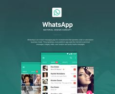 WhatsApp - Material Design Concept on Behance