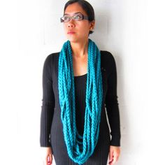 Teal Chain Scarf