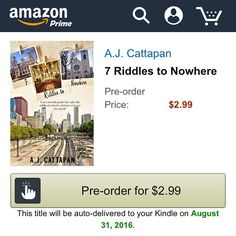 Seven Riddles to Nowhere is now up for pre-order on Amazon! Only $2.99!