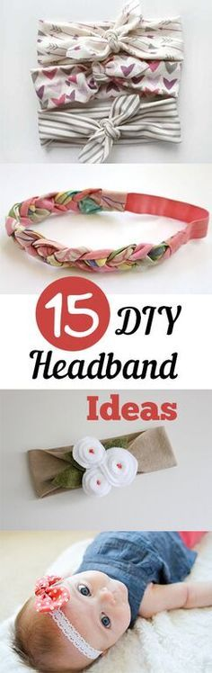 Great ideas to create your own cute headbands!