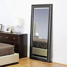 Black Full-Length Dollhouse Miniature Mirror | Black full length ...