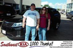https://flic.kr/p/FXw6Yw | Happy Anniversary to Dean on your #Kia #Sorento from Mike Stanton at Southwest Kia Mesquite! | deliverymaxx.com/DealerReviews.aspx?DealerCode=VNDX