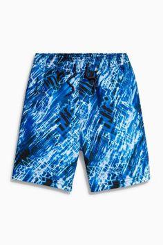 Blue Acid Print Swim Shorts (3-16yrs)