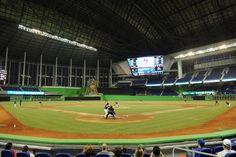 Miami Marlins MLB baseball game in new stadium... Goodtimes