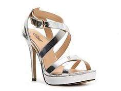 the metallic coloring isn't great, but this is the style i like for the bridesmaids. Diba Tenith Sandal DSW