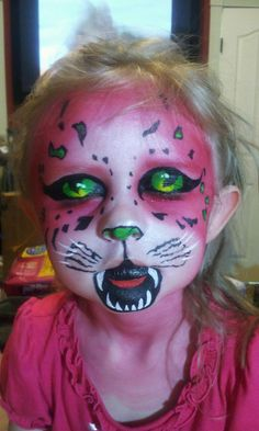 Pink Panther Halloween Makeup (eyes closed)