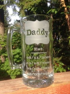 Glass etched beer mug personalized with by Mandicraftycreations