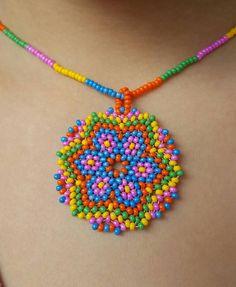 Beaded Flowers Patterns, Beaded Necklace Patterns, Seed Bead Patterns, Beading Patterns, Beaded Earrings, Bead Jewellery, Seed Bead Jewelry, Seed Bead Tutorials, Beading Tutorials
