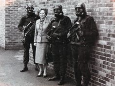 Margaret Thatcher and three SAS personnel after the six-day Iranian Embassy siege in London May 1980. [866 x 650]