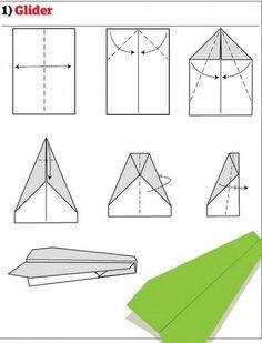Pappersflygplan 1 - Glider