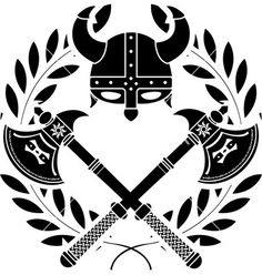 Vector image made on a programme such as illustrator, the design is very simple and is designed like a coat of arms, black and white colours have been used which have high contrast