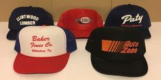 7670401513ec2 Vintage Snapback 5 Trucker Hat Lot Never Worn Auto Zone Cobra  fashion   clothing