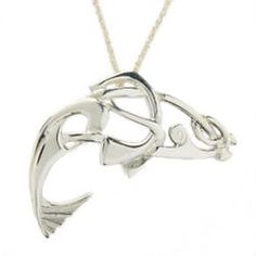 Silver Salmon of Knowledge Pendant