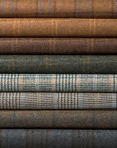 When in doubt, wear tweed. Natural earthy colours of woven tweed. Harris Tweed, Zooey Deschanel, Wool Fabric, Tartan Fabric, Suit Fabric, Tartan Plaid, Plaid Scarf, Mode Inspiration, British Style