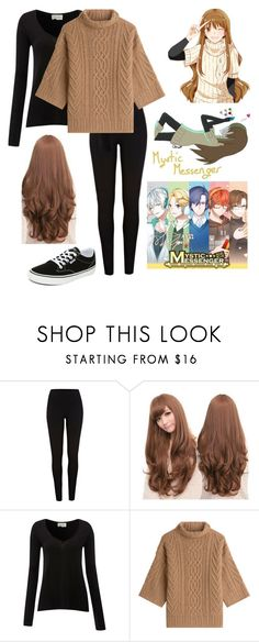 """Mystic Messenger - Mc"" by psycho-netflixing-anime ❤ liked on Polyvore featuring River Island, Sankins, American Vintage, MaxMara and Vans"