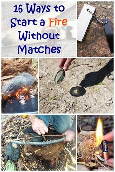 16 Ways to Start a Fire Without Matches - Being resourceful is not only important in survival situations and emergencies, it can come in handy every day. Some of the listed ways to be able to start a fire are difficult. Some are even a little ridiculous.  http://thesurvivor.pro/