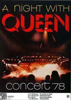 Queen Concert Poster https://www.facebook.com/FromTheWaybackMachine