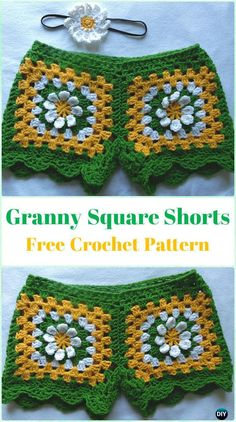 Crochet Summer Shorts & Pants Free Patterns Adult Size & instructions Crochet Summer Shorts & Pants Free Patterns Adult Size & instructions,Crochet and Knitting Crochet Granny Square Shorts Free Pattern - Crochet Summer Shorts Crochet Shorts Pattern, Crochet Pants, Granny Square Crochet Pattern, Crochet Skirts, Crochet Squares, Crochet Granny, Crochet Clothes, Pattern Skirt, Crochet Free Patterns