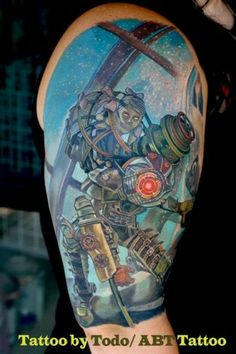 Video Game Tattoos | BioShock Video Game Tattoo by Todo - ABT Tattoo