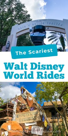 Walt Disney Word isn't known for scary rides, but there are a few that can be frightening for little ones. Here are the scariest Walt Disney World rides, including thrill rides. Walt Disney World Rides, Disney Parks, Epcot Attractions, Seven Dwarfs Mine Train, Disney Word, Tower Of Terror, Space Mountain, Fun Songs, Pirates Of The Caribbean