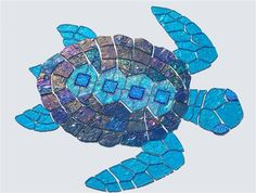glass mosaic turtle for swimming pools!