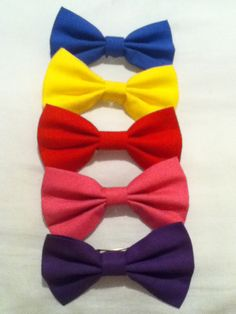 Solid Color Hair Bows. $3.00, via Etsy.