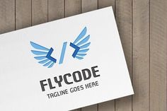 Fly Code Logo by tkent on @creativemarket