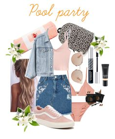 """""""Pool party"""" by annabalint16 on Polyvore featuring Melissa Odabash, Christian Dior, MAC Cosmetics, Vans, ban.do, Miss Selfridge, Gap and poolparty"""