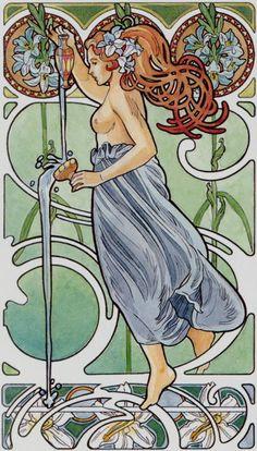 Kunst - Art: Vrouwen Jugendstil(stijl) *Women Art Nouveau(Style) ~Antonella Castelli-Orakel/Tarot kaarten~
