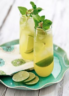 Pineapple Lemonade Cooler recipe: Cool down and celebrate with friends this summer.