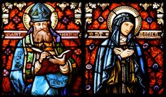 St. Augustine & St. Monica ~ stained glass