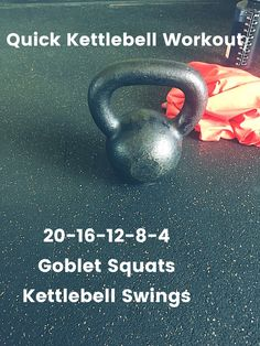 Quick Kettlebell Workout! Crossfit style with goblet squats and kettlebell swings https://www.kettlebellmaniac.com/kettlebell-exercises/ #exercise