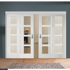 Sliding Room Divider With White Shaker Glazed Solid Doors In 2019 within proportions 950 X 962 Solid French Doors For Bedroom - Doorways of any type Sliding Door Room Dividers, Cheap Room Dividers, Room Divider Bookcase, Portable Room Dividers, Room Divider Walls, Hanging Room Dividers, Sliding Door Design, Diy Room Divider, Closet Doors