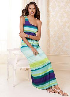 Walk The Line - One Shoulder Maxi Dress #SomaIntimates   My Soma Wish List Sweeps
