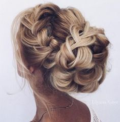 Braided Low Bun Wedding Hairstyle